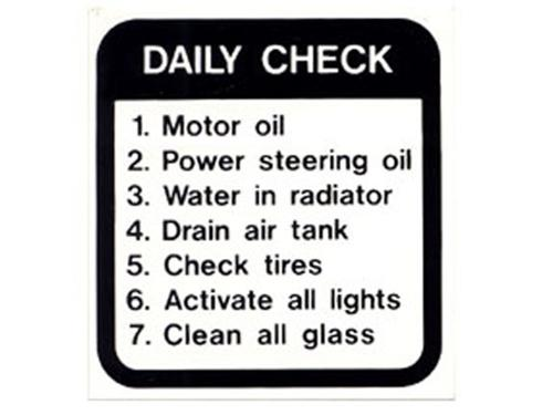 Decal, Daily Check, 4In