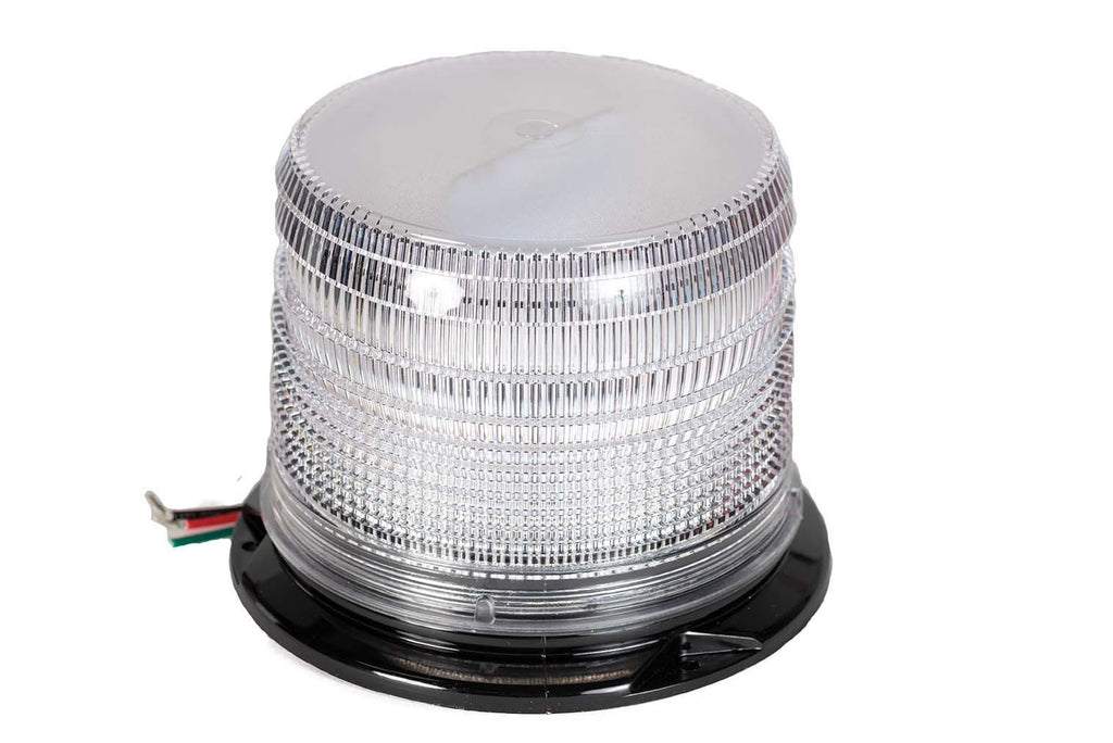 "Strobe Light, Roof LED Clear, Flange w/ 1"" Pipe Mount"