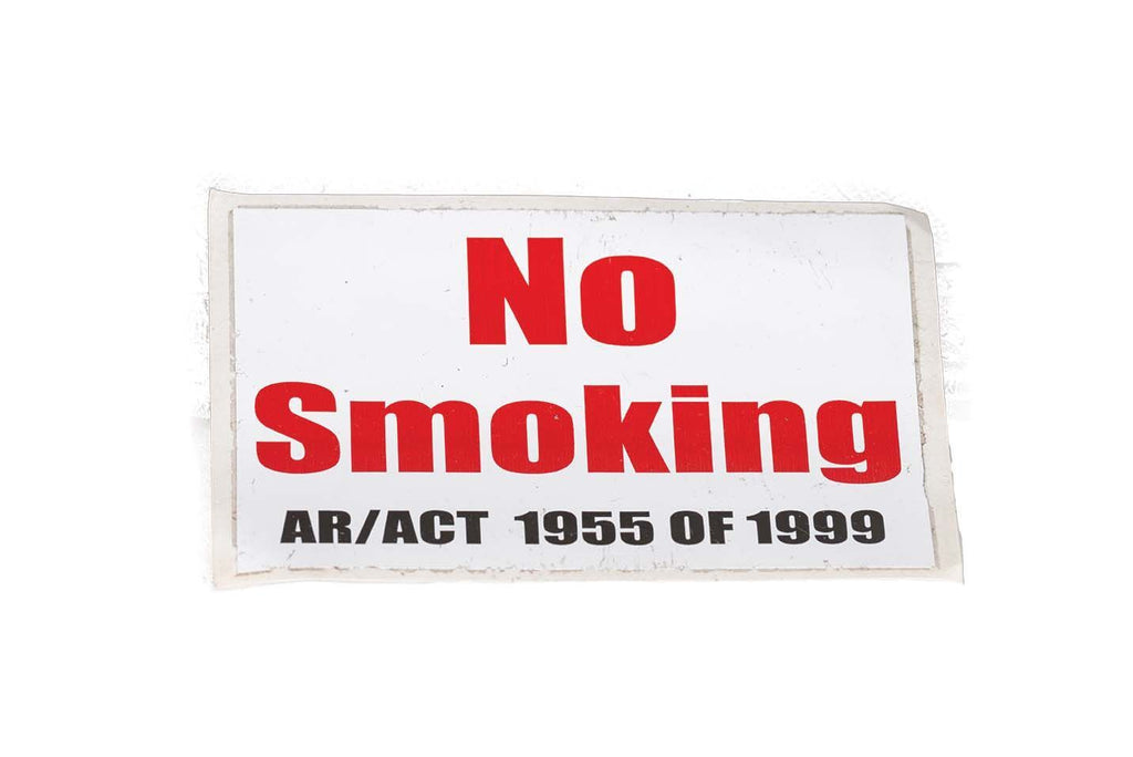 Decal, No Smoking