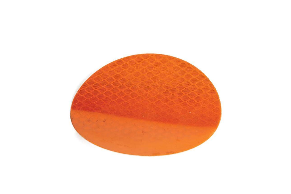 "Reflector,3"" Round Flexible Stick-on, Amber"