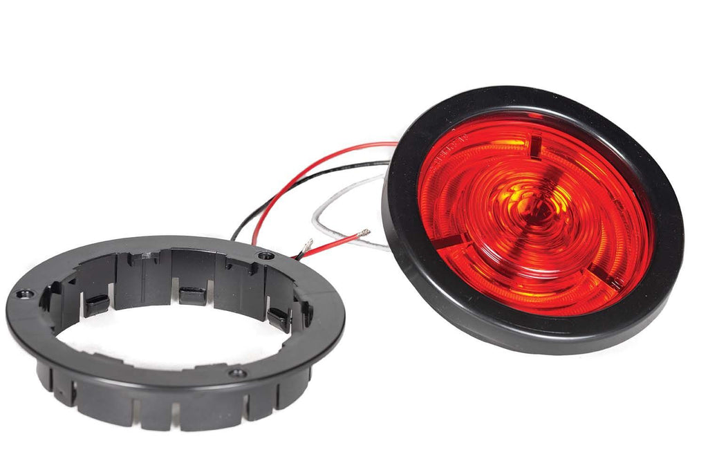 "LED, STT, 4"" Halo, Grommet, Red"