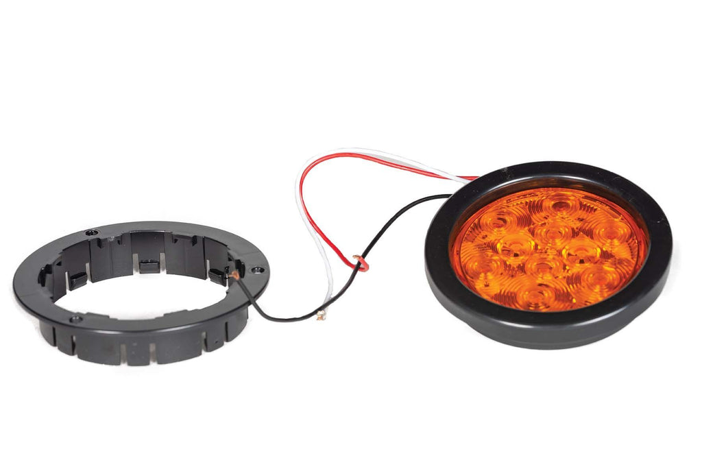 "LED, Parking/ Signal, 4"" Flange, Amber"