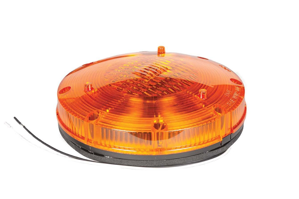 "Halogen Warning, 7"" Round, Amber"