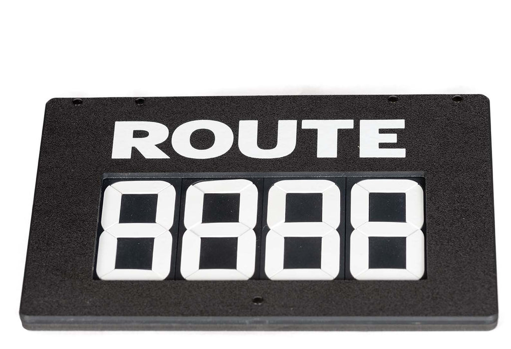 Sign, Hinge, 4-Digit, Route, E-Z Tag