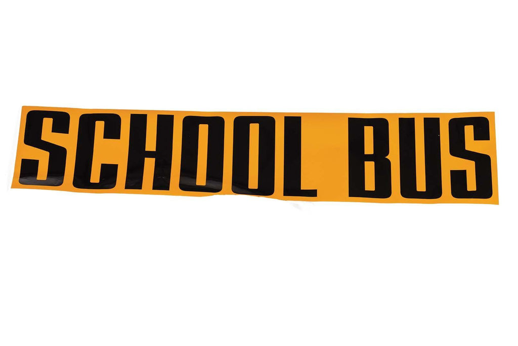 "Decal, School Bus, 9"" x 38.5"", Black on Yellow"