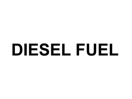 Decal, Diesel Fuel, 1/2In