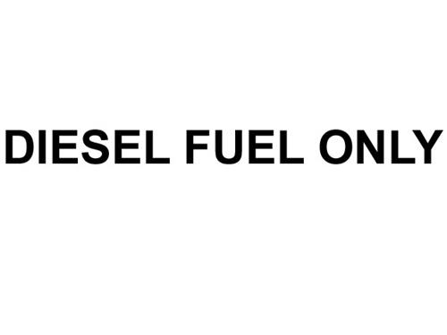 Decal, Diesel Fuel Only, Black, 1/2In