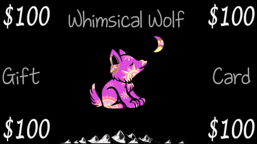 $100 Gift Card - Whimsical Wolf