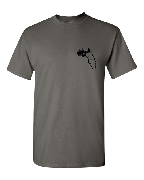 Gray 850 Broadway Strong Relief Fund T-Shirt - Whimsical Wolf