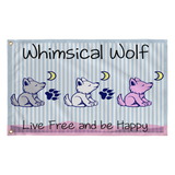 Whimsical Wolf Preppy Flag - Whimsical Wolf