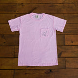 Breast Cancer Pink Short Sleeve with Circle Breast Cancer Design - Whimsical Wolf