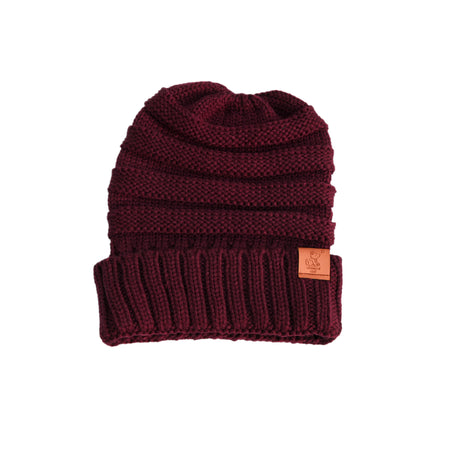 Burnt Orange Knit Cuffed Beanie