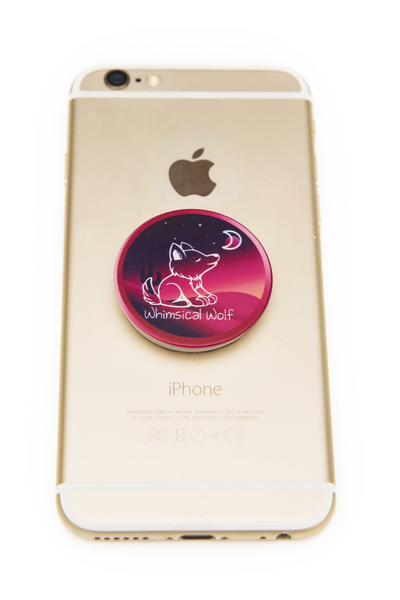 Pink Desert Phone Socket - Whimsical Wolf