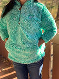 Aqua Sherpa with Whimsical Wolf Logo - Whimsical Wolf