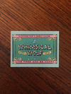 Vintage Whimsical Wolf Rectangular Sticker 3.5