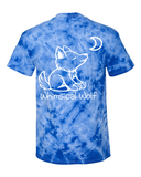 Tie Dye Royal Blue with Paw Print - Whimsical Wolf