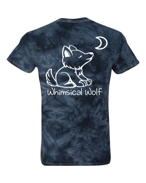 Tie Dye Black with Paw Print - Whimsical Wolf