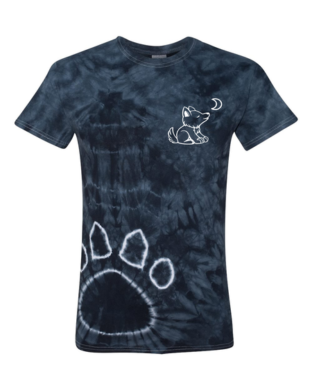 Orange Halloween Short Sleeve with Whimsical Wolf Witch design