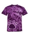Tie Dye Purple with Paw Print - Whimsical Wolf