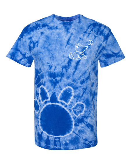 Tie Dye Black with Paw Print