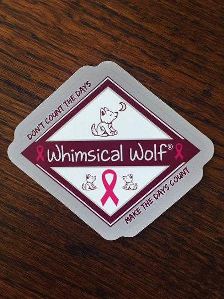 "Vintage Whimsical Wolf Rectangular Sticker 3.5 "" x  2.5"""