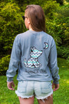 Granite Grey Long Sleeve with Chevron Pattern - Whimsical Wolf