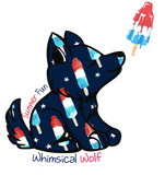 Bomb Pop Whimsical Wolf Sticker 2.5