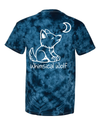 Tie Dye Navy Blue with Paw Print - Whimsical Wolf