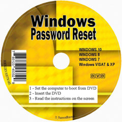 Seifelden ✅ Windows password reset disk Recovery Premium CD for Removing your Forgotten Windows Password on Windows 10, Windows 7, Vista, XP - Unlimited Use! for Desktop and Laptop