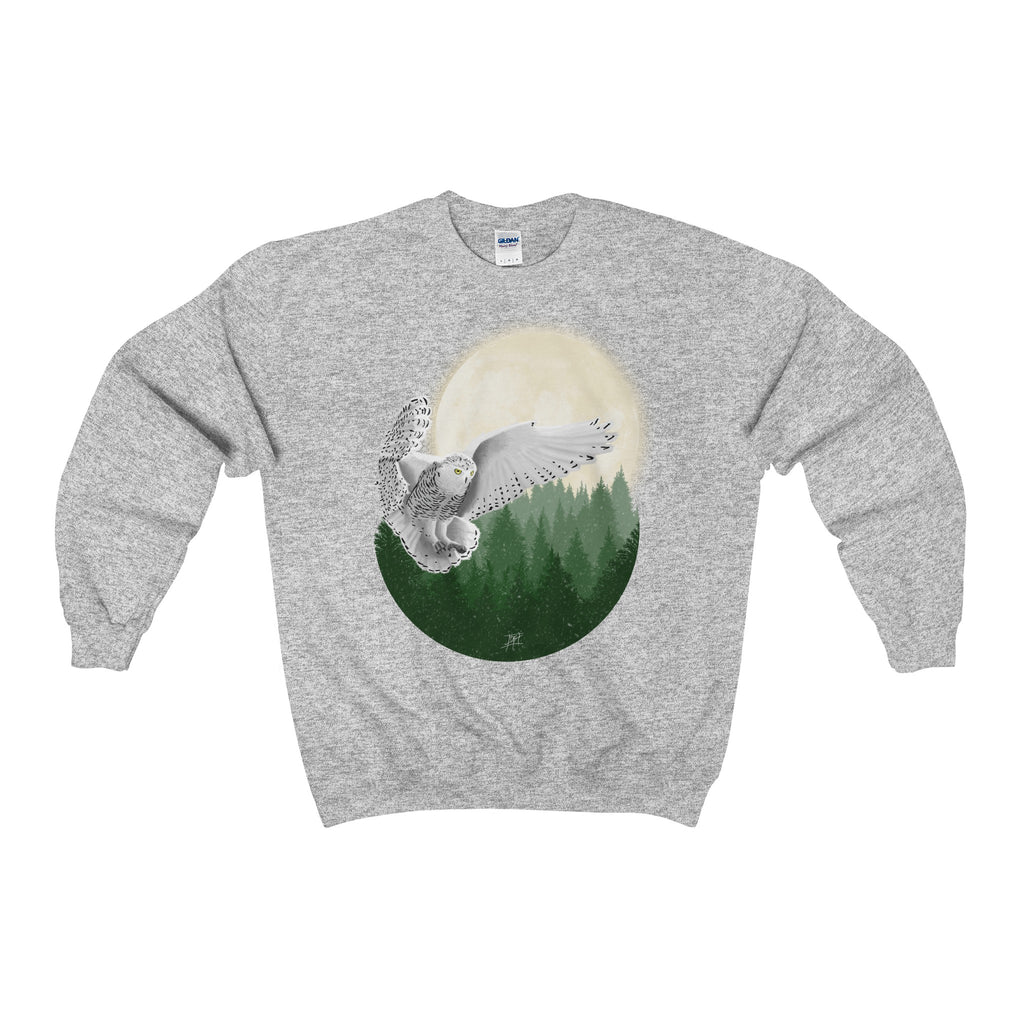 248a0f130 Snowy Owl Heavy Blend Adult Unisex Crewneck Sweatshirt (Color). SKU:  vgcRRk. Availability: Many in stock. Previous