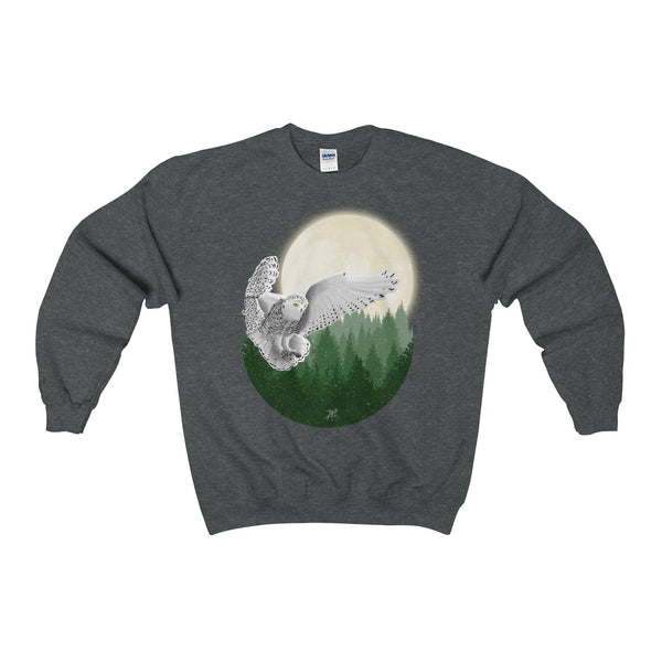 Snowy Owl Heavy Blend Adult Unisex Crewneck Sweatshirt (Color)