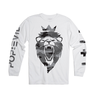 Camo Lion Long Sleeve Tee