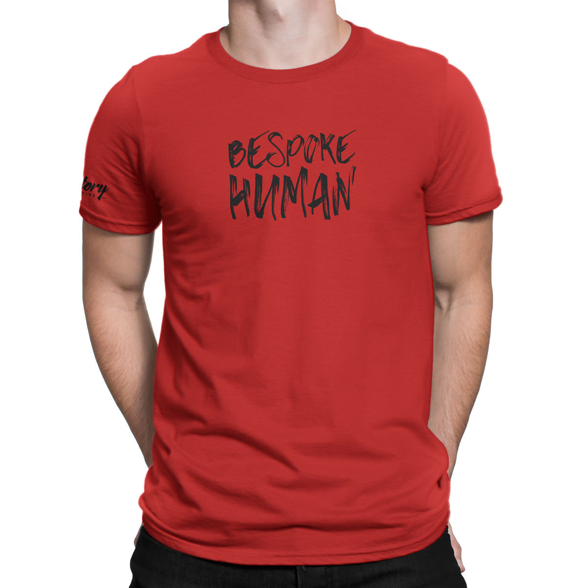 Bespoke Human — Men's T-Shirt (Red)