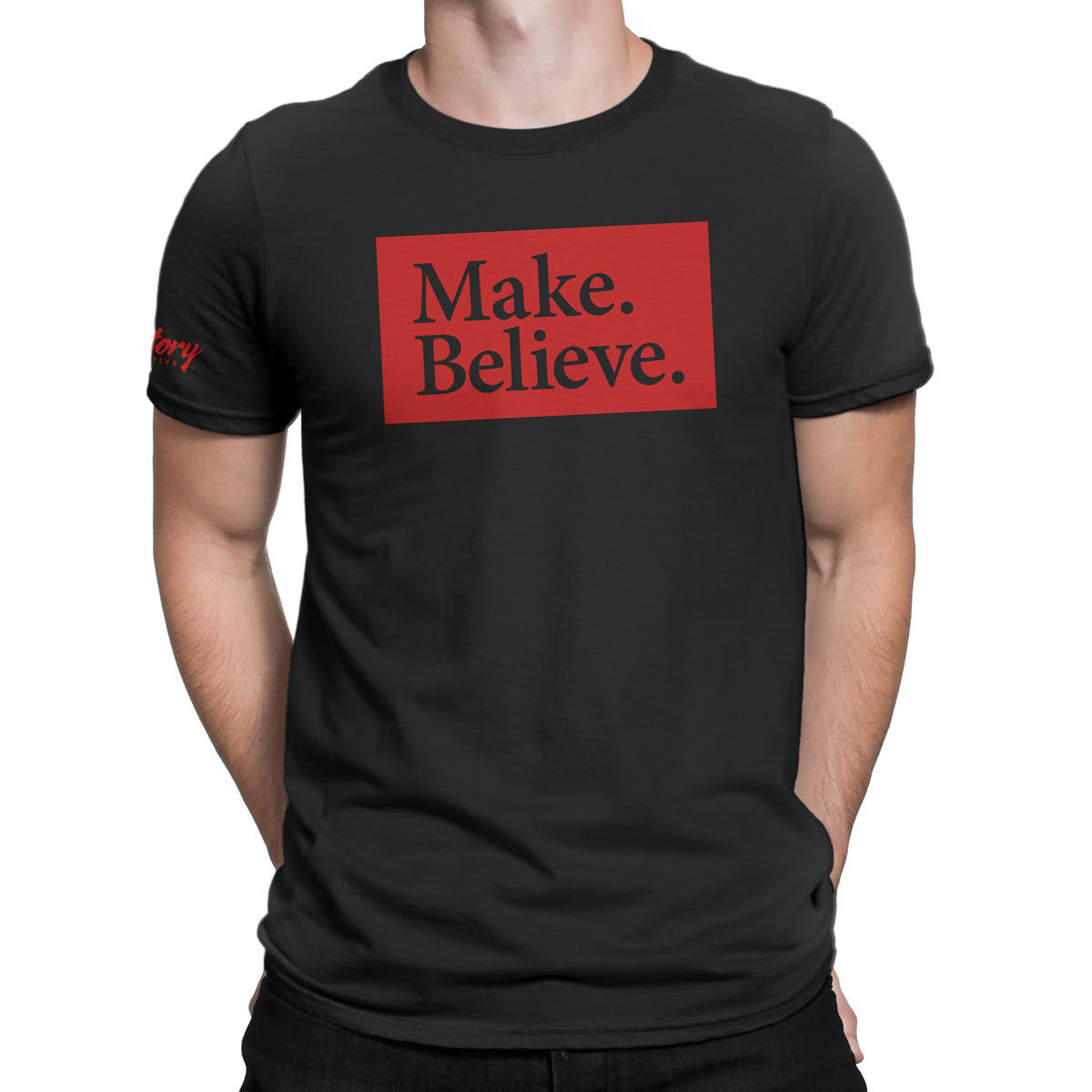 Make. Believe. — Men's T-Shirt (Black)