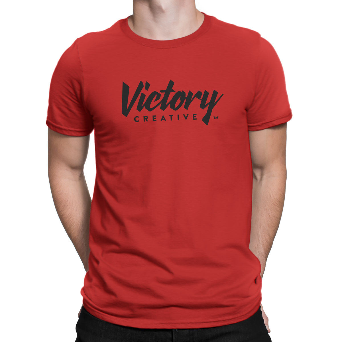 Victory Creative Logo — Men's T-Shirt (Red)