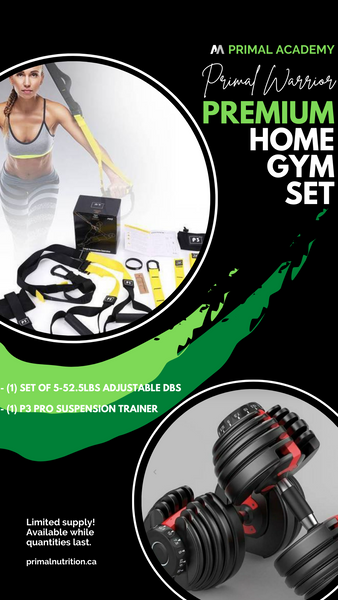 Premium Home Gym Set: Set of 52.5 Adjustable DB's & P3 Pro