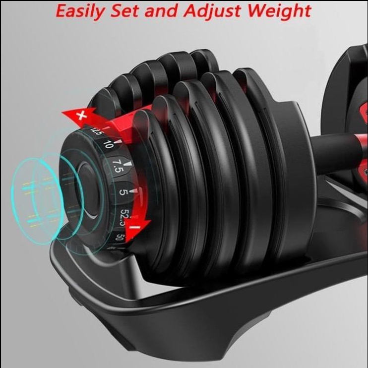 Ultimate Home Gym Set: Set of 52.5 Adjustable DB's, Olympic Barbell & Bumper Plate Set & P3 Pro.