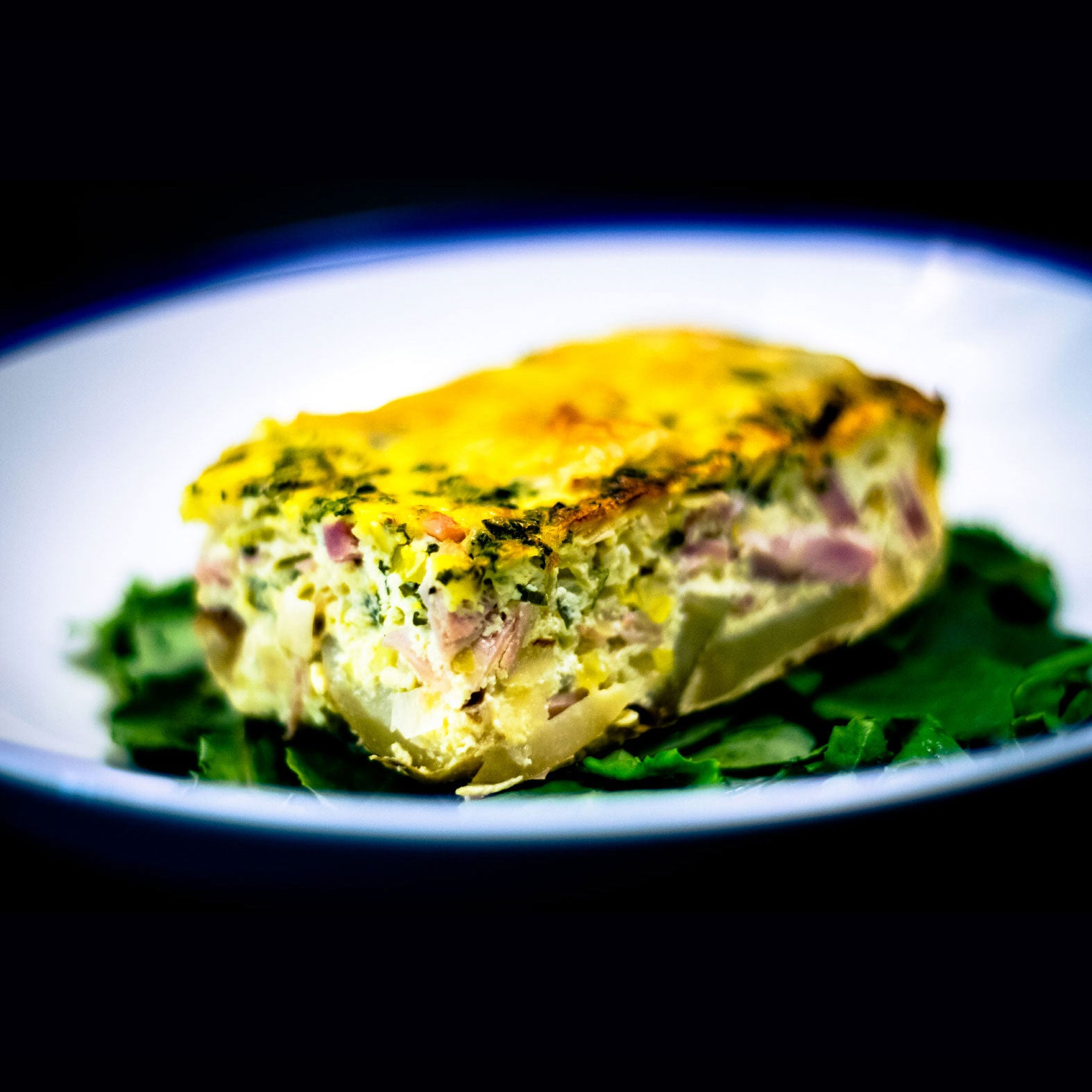 Ham and Cheese Frittata