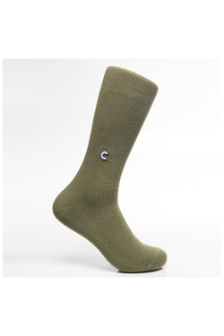 Chrystie Casual Socks Military Green - Chrystie New York - Aimé Moss Skateboarding Shop