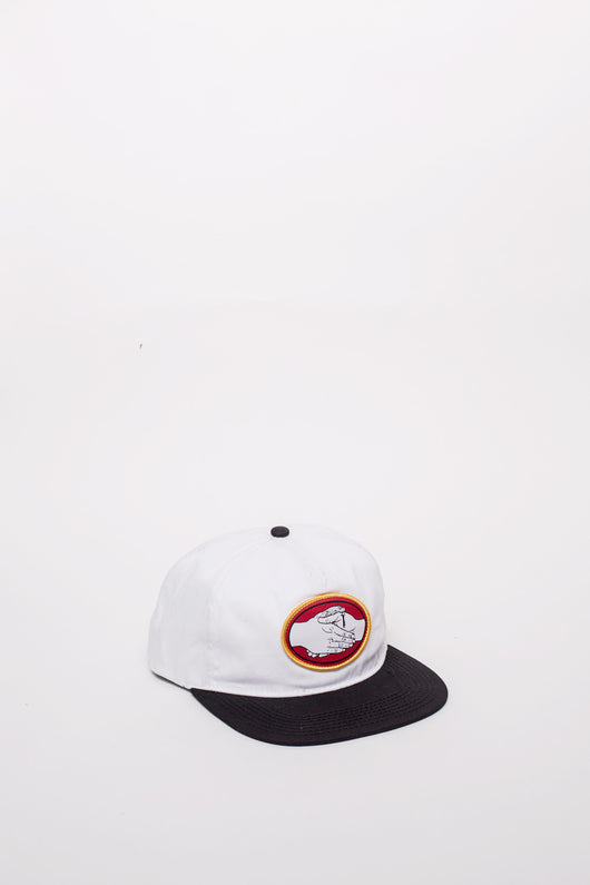 Snake Bite Snapback White Black - Doom Sayers - Aimé Moss Skateboarding Shop