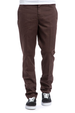 Dickies Slim Fit Work Pant Chocolate Brown WP872CB - Dickies - Aimé Moss Skateboarding Shop