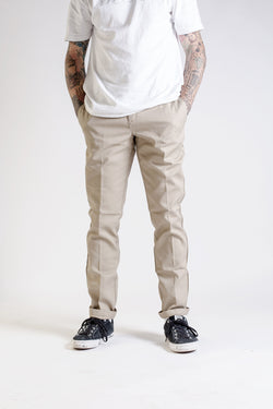 Dickies Slim Fit Work Pant Khaki WE872KH - Dickies - Aimé Moss Skateboarding Shop