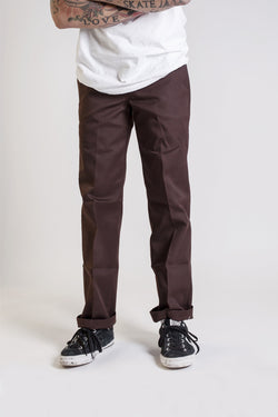 Dickies Slim Straight Chocolate Brown WP873CB - Dickies - Aimé Moss Skateboarding Shop