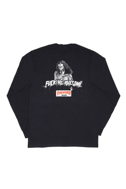 Fucking Awesome x Thrasher TRASH Longsleeve Tee Black - Fucking Awesome - Aimé Moss Skateboarding Shop
