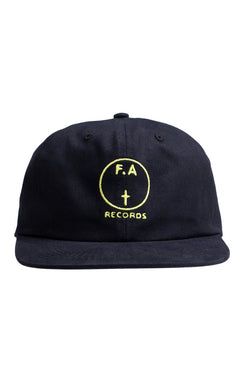 Fucking Awesome - FA Records Hat Black / Yellow