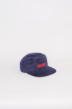 Corduroy Logo Hat Navy - Hockey - Aimé Moss Skateboarding Shop