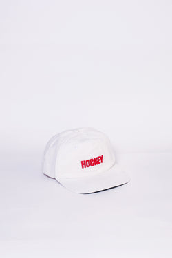 Hockey Corduroy Logo Hat White - Hockey - Aimé Moss Skateboarding Shop
