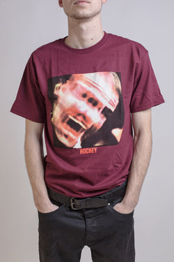 Hockey Panic Tee Burgundy - Hockey - Aimé Moss Skateboarding Shop