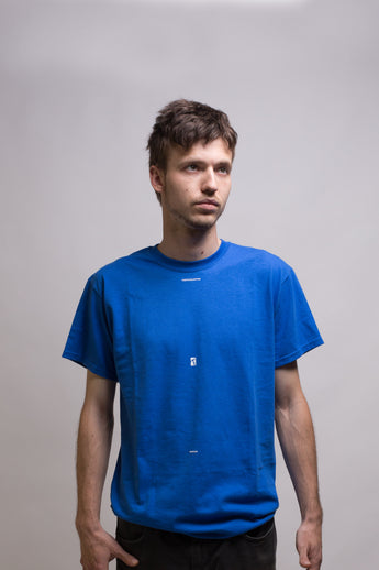 Poetic Collective - Minimalism Tee Blue - Poetic Collective - Aimé Moss Skateboarding Shop