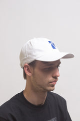 Poetic Collective - Six Panel Cap - White Blue - Poetic Collective - Aimé Moss Skateboarding Shop